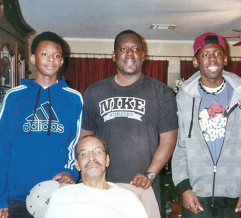 Willie's husband, son, and two grandsons.