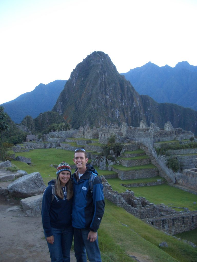 Rachel and Scott at Machu Picchu in Peru, summer 2010
