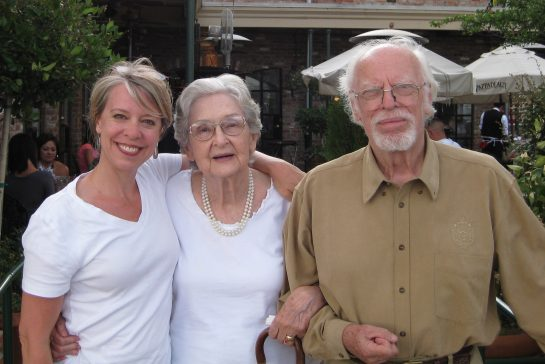 Alyson with her parents