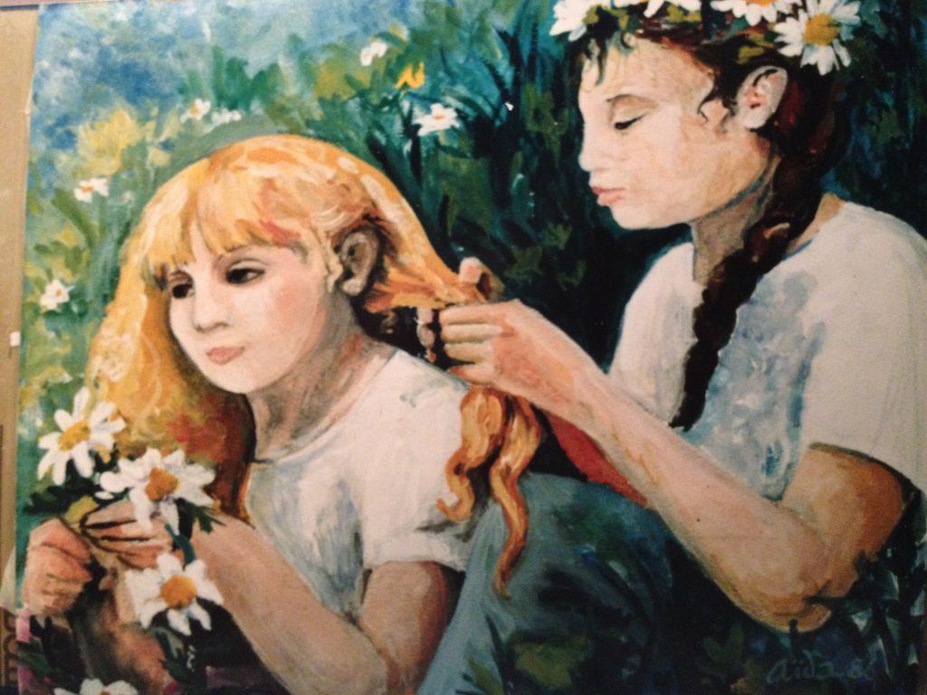 Aida painting girls