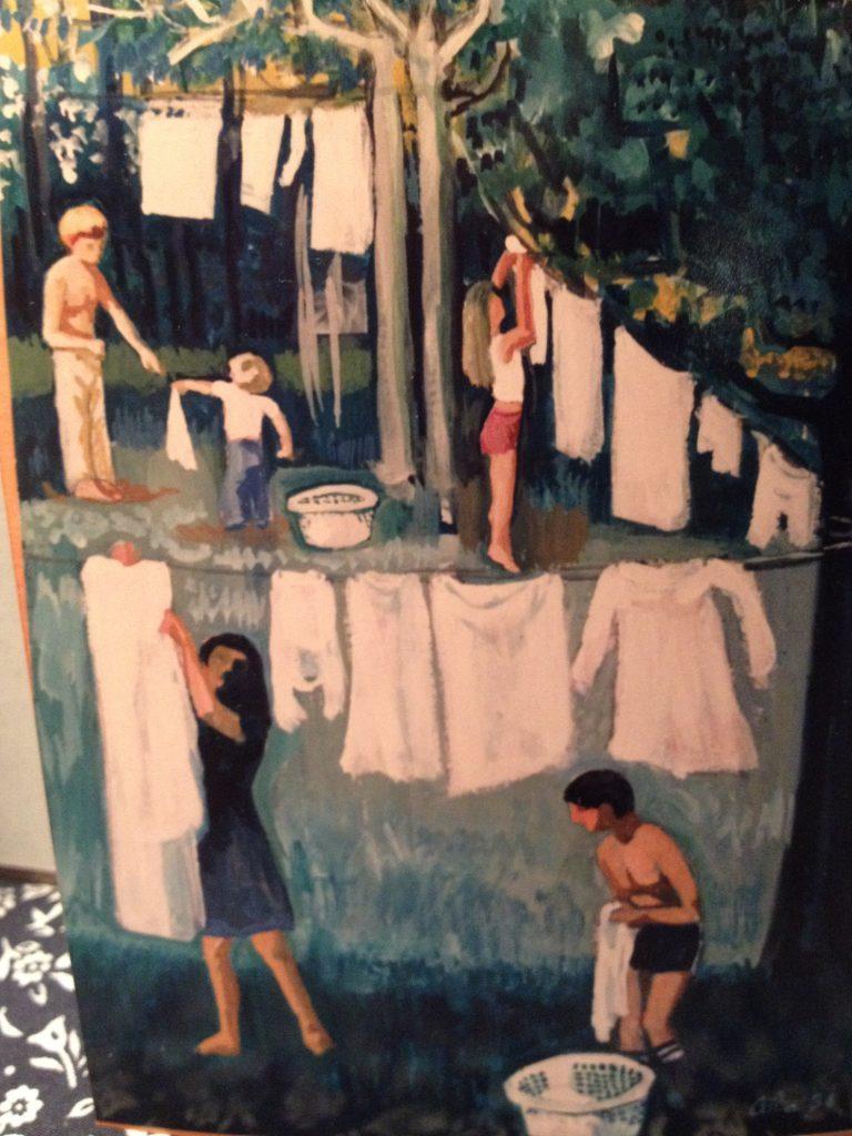 Aida painting laundry