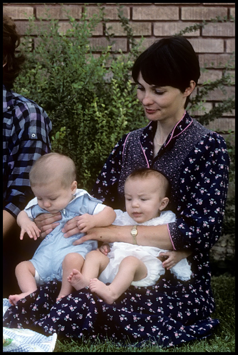 Christie as a young mother