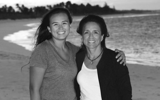 Briana with her mother, Soraya